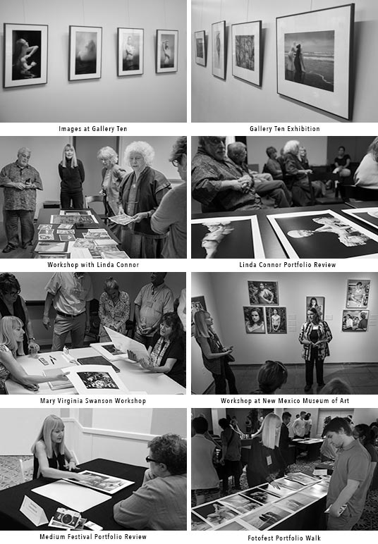 Martha Ketterer, photographer, at various artist events